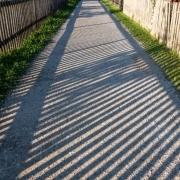 Eingezäunter Schattenzaun, Fotografie von Ingrid-Metzner-Hoffmann