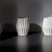 3 Vasen mit Schatten, Fotografie von René Minkels