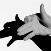 Hand mit Schatten, Fotografie von Sabine Böck