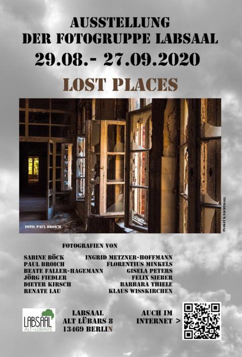 """Plakat zur Foto Ausstellung """"Lost Places"""""""