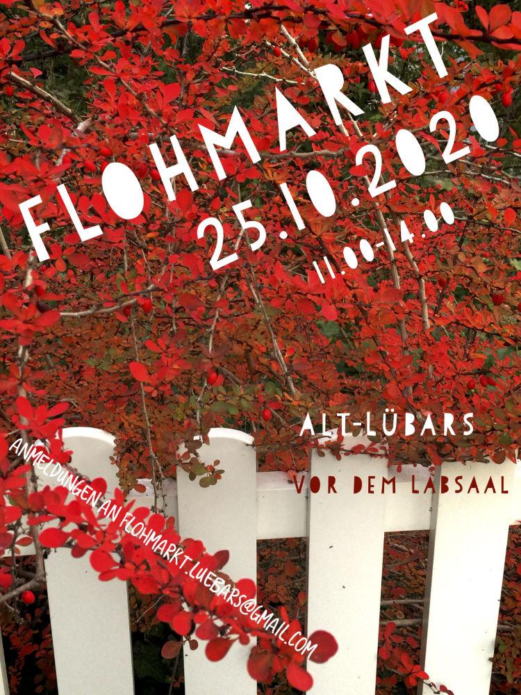 Plakat zum Flohmarkt in Alt Lübars in Berlin