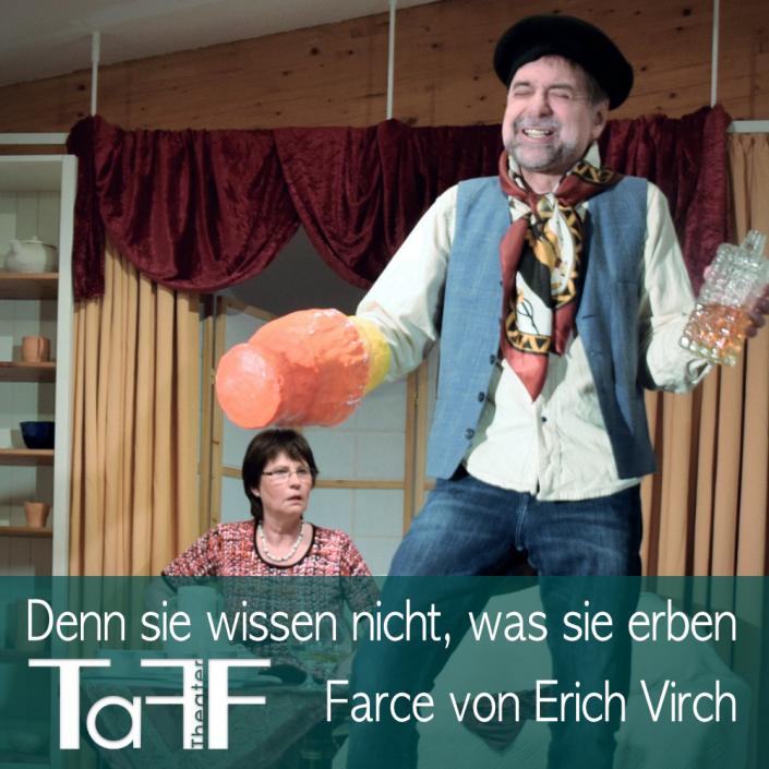 Denn sie wissen nicht was sie erben, Vorschau Plakat vom TaFF Theater im LabSaal Berlin Lübars und Heiligensee